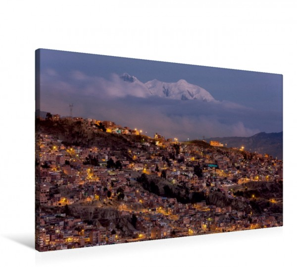 Wandbild La Paz bei Nacht