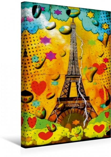 Wandbild Paris im Regen