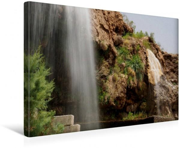 Wandbild Heiße Quellen im Wadi Ma in