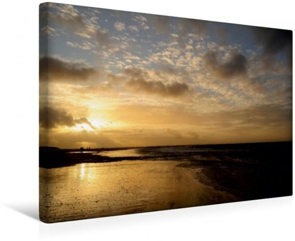 Wandbild Abendstimmung auf Norderney Sonnenuntergang Sonnenuntergang