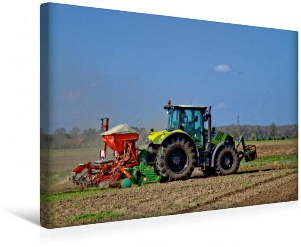 Wandbild Dünger streuen Landwirtschaft Landwirtschaft