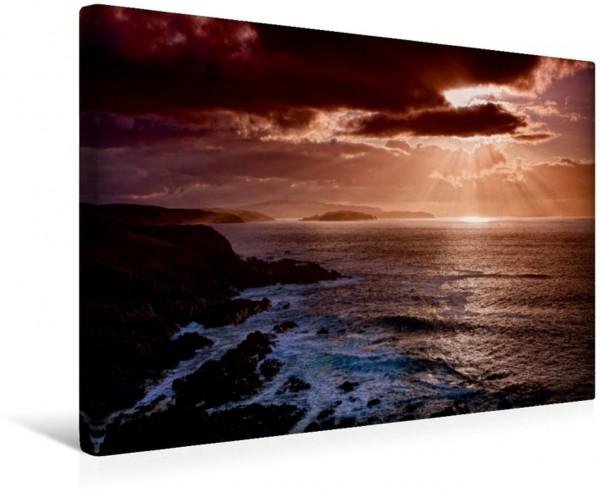 Wandbild Sonnenuntergang Nordküste, Caithness, Schottland Sonnenuntergang Nordküste Caithness Schottland Sonnenuntergang Nordküste Caithness Schottland
