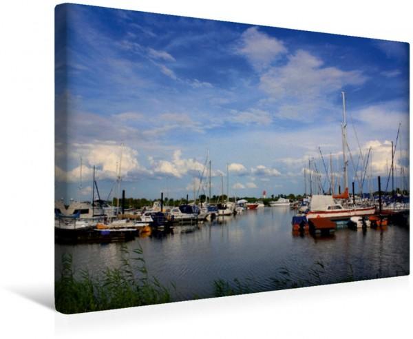 Wandbild Sportboothafen Großensiel Yachthafen in Nordenham Yachthafen in Nordenham