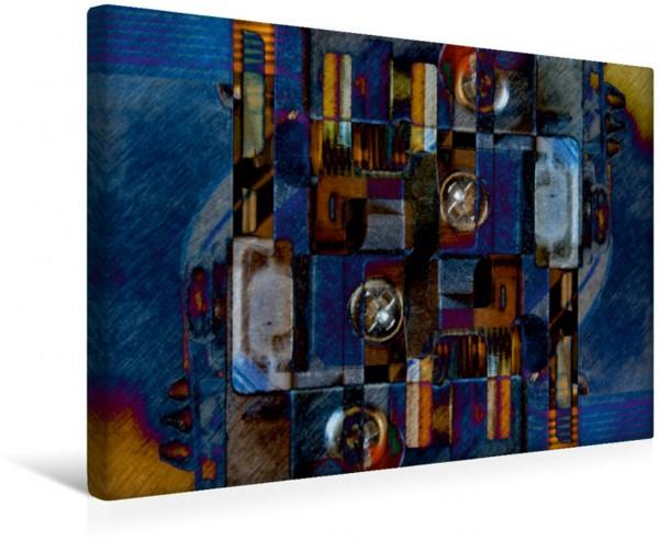 Wandbild Blau am Computer ... ... sieht an der Wand hervorragend aus. ... sieht an der Wand hervorragend aus.