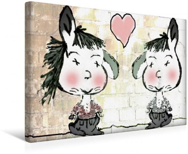 Wandbild Freundschaft mit viel Herz CB