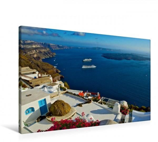 Wandbild Traumschiffe vor der Trauminsel Santorin