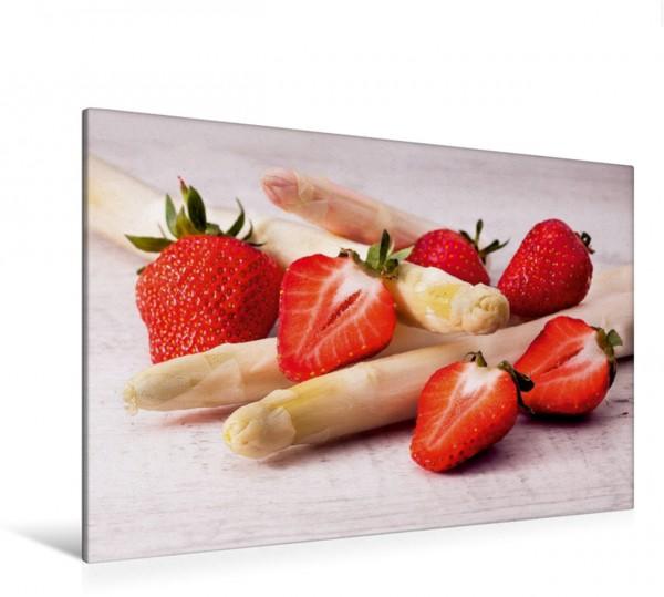 Wandbild Erdbeeren an Spargel