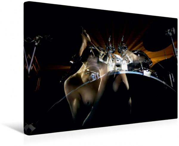 Wandbild Schlagzeug mit sinnlichem Frauenkörper Erotische Bildkomposition Erotische Bildkomposition