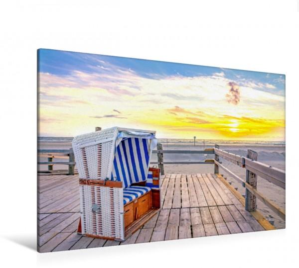 Wandbild Blick zum Meer im Sonnenuntergang