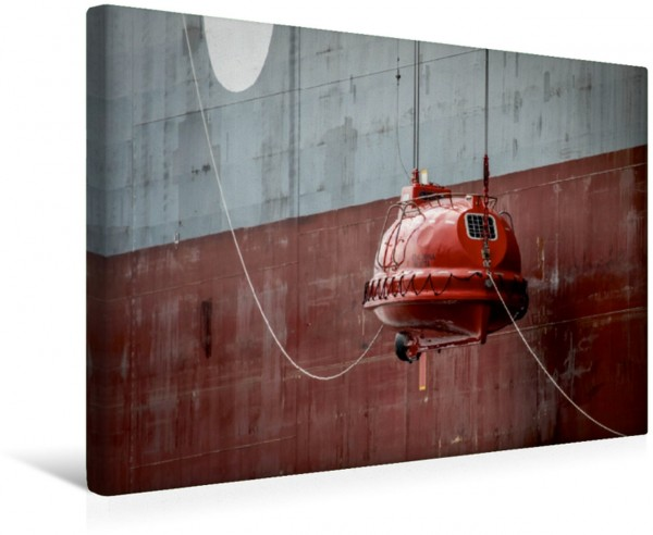 Wandbild Maritime Details im Hamburger Hafen Rettungsboot Rettungsboot