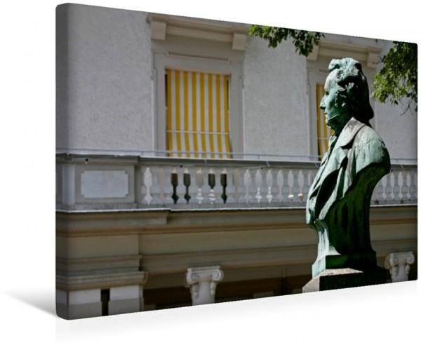 Wandbild Albert-Lortzing-Büste an der Hauptallee in Bad Pyrmont