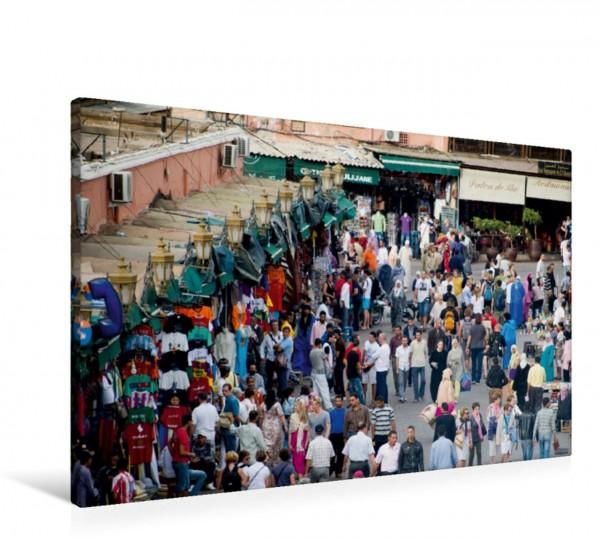 Wandbild Touristen und Einheimische auf dem Platz der Gehenkten