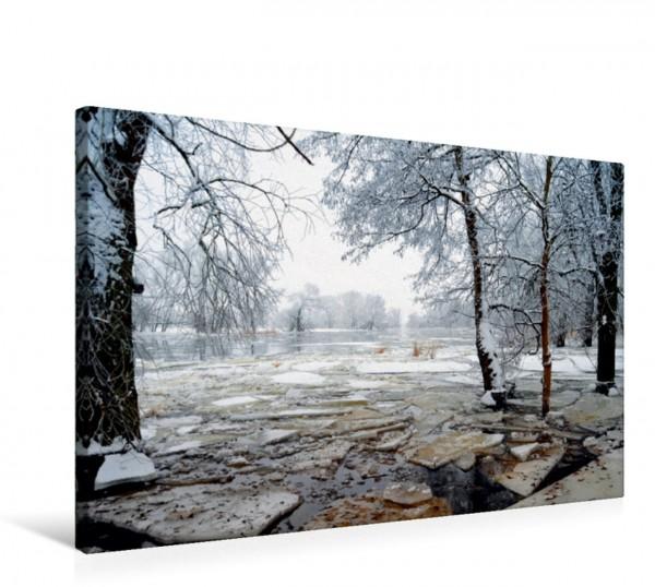 Wandbild Eisschollen auf der Havel Winterzeit an der Havel Havelland Brandenburg Winterzeit an der Havel Havelland Brandenburg