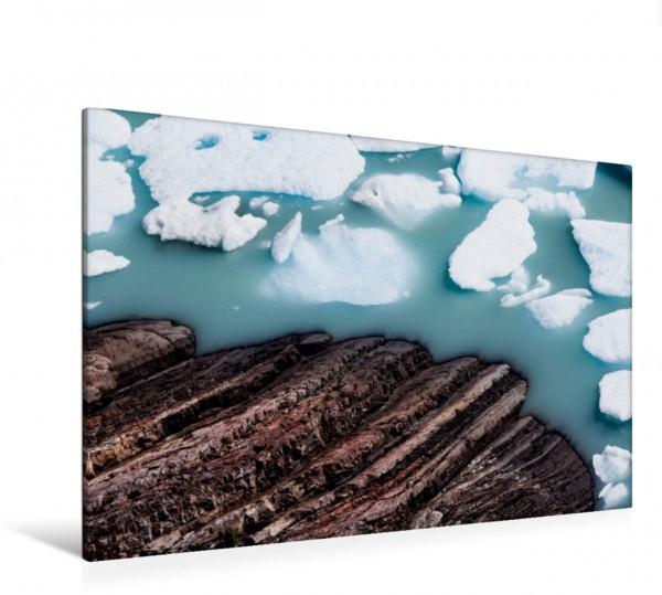 Wandbild Eisschollen im Lago Argentino in Patagonien