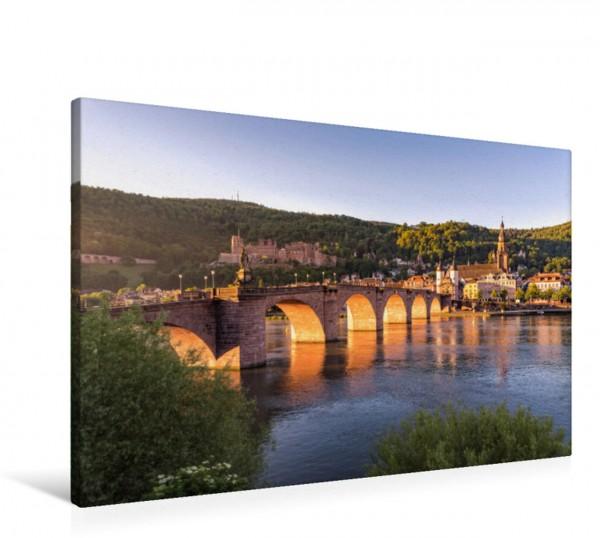 Wandbild Morgensonne an der Alten Brücke Heidelberg