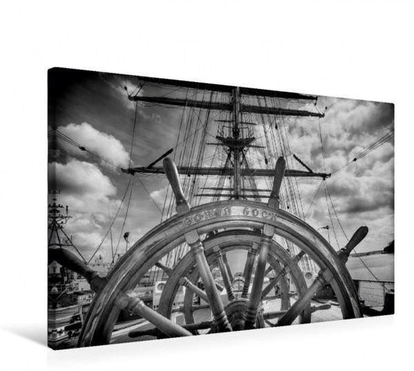 Wandbild Steuerrad des Segelschulschiffs Gorch Fock