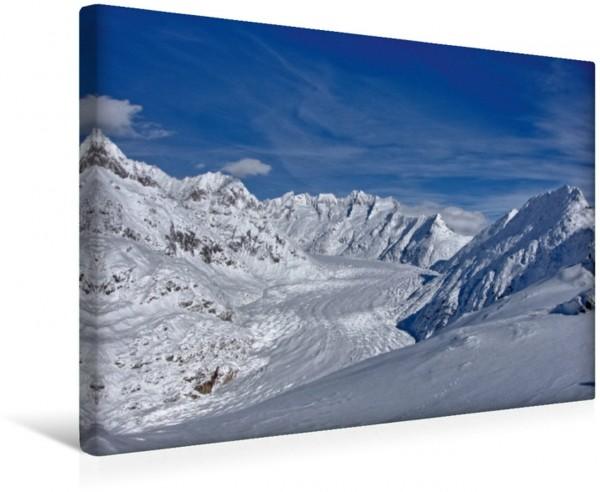 Wandbild Der Grosse Aletschgletscher ist der flächenmässig grösste und längste Gletscher der Alpen.