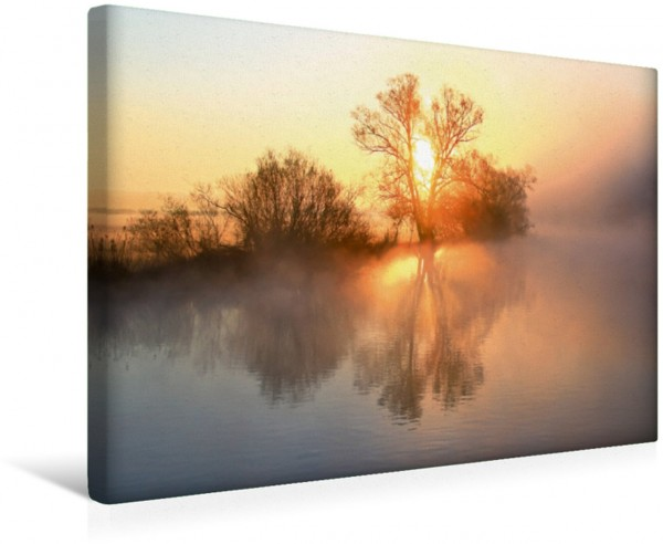 Wandbild Mystische Momente - Nebelstimmungen an der Ruhr Weiches Licht und sanfte Farben Weiches Licht und sanfte Farben