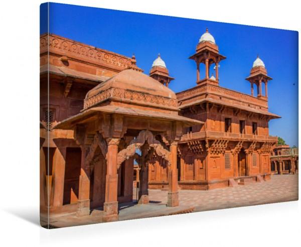 Wandbild Fatehpur Sikri, die verlassene Stadt Dieser Palast gehörte am Ende des 16. Jahrhunderts zur ehemaligen Hauptstadt des Mogulreiches. Dieser Palast gehörte am Ende des 16. Jahrhunderts zur ehem