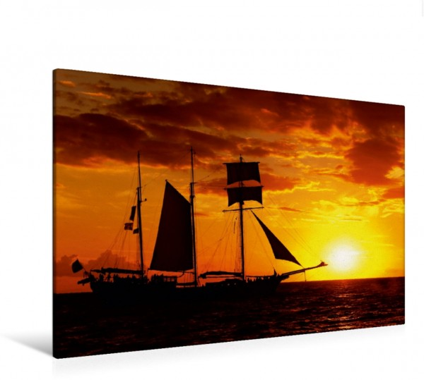 Wandbild Sunset Sailing