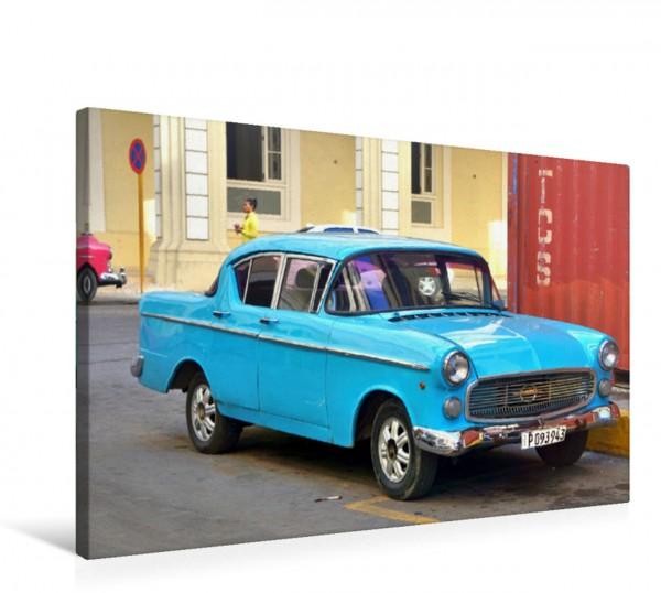 Wandbild Die Oldtimer-Legende Opel Kapitän P 2.5 in Havanna
