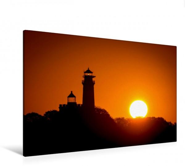 Wandbild Sonnenaufgang am Kap Arkona Die Leuchttürme auf Insel Rügen an einem Morgen im Herbst Die Leuchttürme auf Insel Rügen an einem Morgen im Herbst