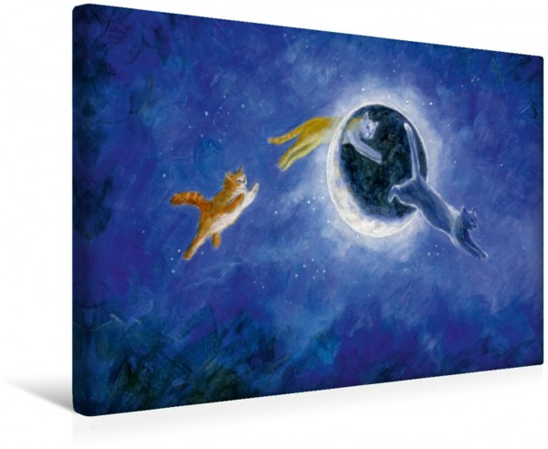 Wandbild In der Nacht sind alle Katzen grau Serie Sprichwörter Serie Sprichwörter