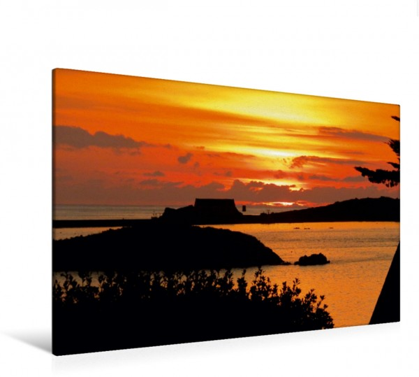 Wandbild Sonnenuntergang - Île de Batz