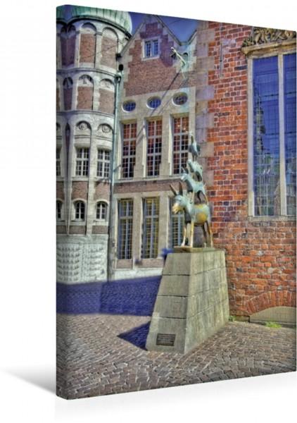 Wandbild Bremen - Das bekannteste Wahrzeichen der Stadt, die Stadtmusikanten von 1953
