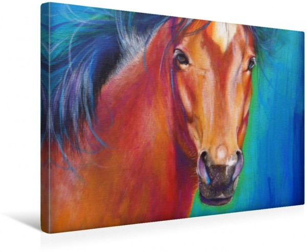 Wandbild Krafttier Pferd