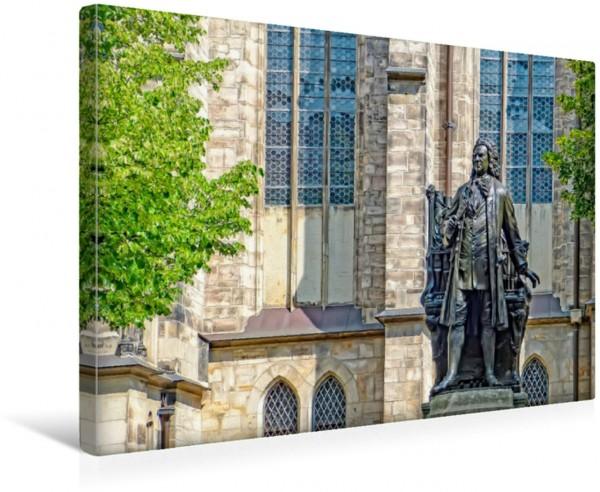 Wandbild Leipzig Bach-Denkmal bei der Thomaskirche
