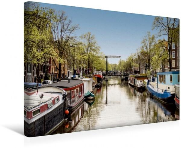 Wandbild Amsterdam - Prinsengracht Blick in die Prinsengracht eine der drei Hauptgrachten im Amsterdamer Grachtenring Blick in die Prinsengracht eine der drei Hauptgrachten im Amsterdamer Grachtenring