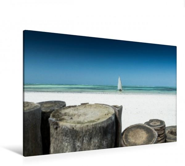 Wandbild Kiwengwa Beach auf Sansibar, Tansania Segelboot am Strand von Sansibar Segelboot am Strand von Sansibar