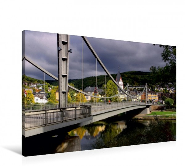 Wandbild Lahnbrücke Nassau Die Lahn - Zauberhafte Orte rund um Limburg Die Lahn - Zauberhafte Orte rund um Limburg