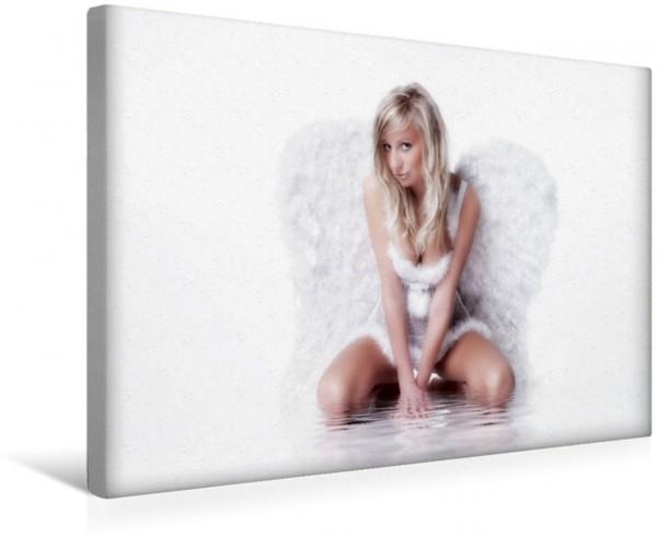 Wandbild Sexy Engel Sexy Model im Engelsgewand Sexy Model im Engelsgewand