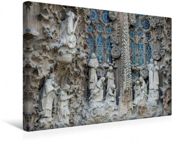 Wandbild Szene an der Front von Sagrada Familia