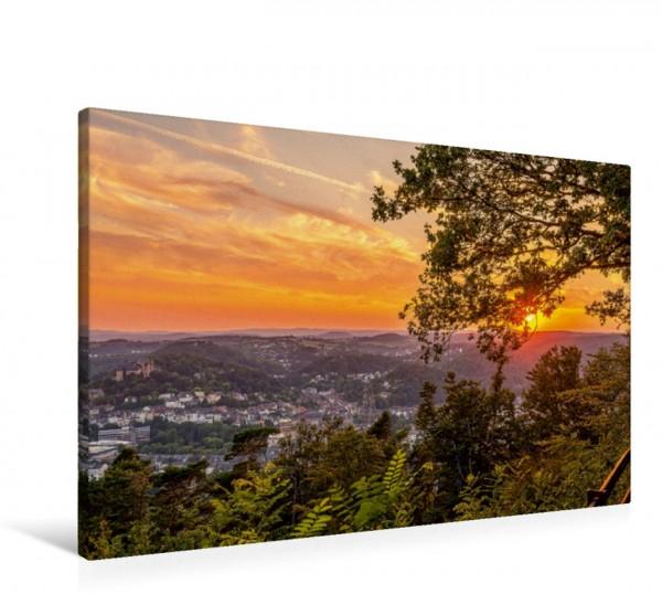 Wandbild Sonnenuntergang über Marburg Ein romantischer Blick vom Spiegelslustturm auf die Universitätsstadt Marburg Ein romantischer Blick vom Spiegelslustturm auf die Universitätsstadt Marburg