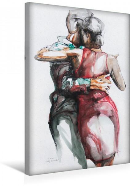 Wandbild Tangopaar N°37, Zeichnung in Mischtechnik Tangokunst von Evelyn Schmidt Tangokunst von Evelyn Schmidt