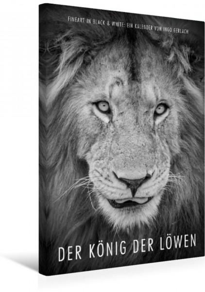 Wandbild FineArt in Black and White: Der König der Löwen