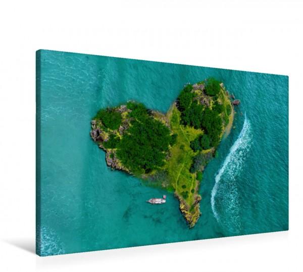 Wandbild Herzförmige Liebesinsel Emotionale Herzensdinge Emotionale Herzensdinge