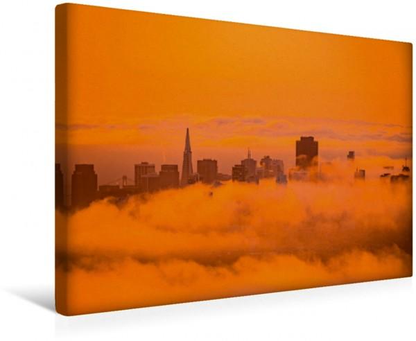 Wandbild Goldene Stimmung kurz nach Sonnenaufgang
