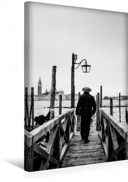 Wandbild Der Gondoliere am Markusplatz Venedig Venedig