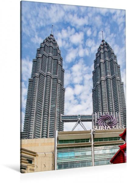 Wandbild Petronas Towers Kuala Lumpur - eine faszinierende Großstadt Asiens Kuala Lumpur - eine faszinierende Großstadt Asiens