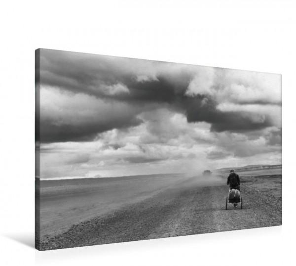 Wandbild Der Mann mit dem Monowalker - Ich habe Zeit. Islands weite und einsame Wüstenlandschaften Islands weite und einsame Wüstenlandschaften