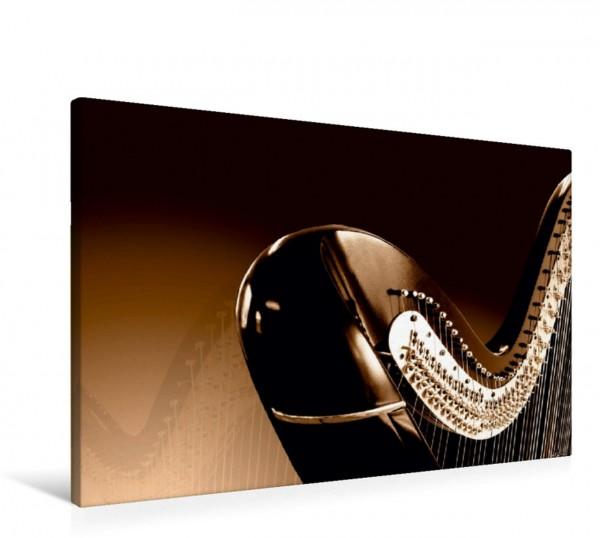 Wandbild Harfe