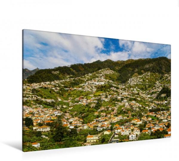 Wandbild Blick vom Santo Antônio auf die Hänge von Funchal
