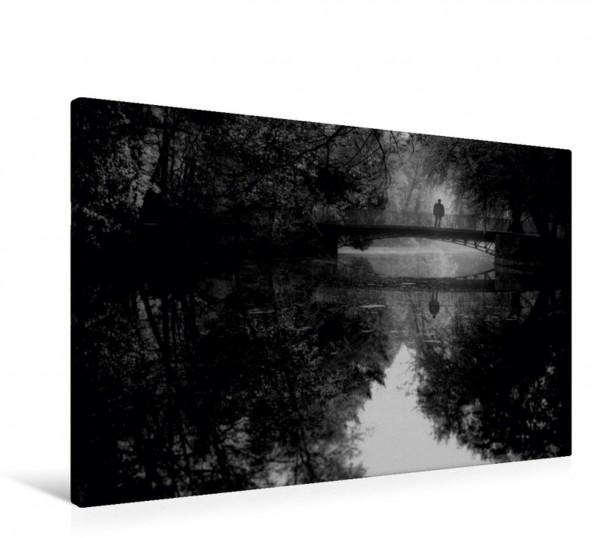 Wandbild Brücke am See